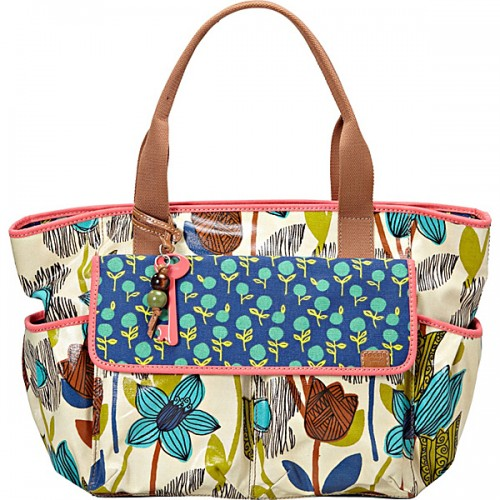 Fossil Key Per Coated Canvas Utility Tote.