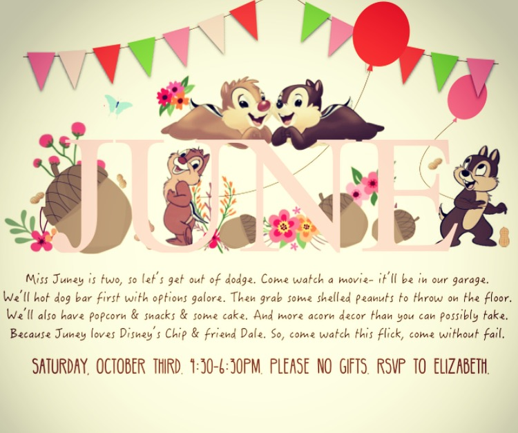 Chip And Dale Birthday Party